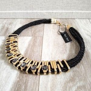NWT WHBM Rope & Gemstone Statement Necklace